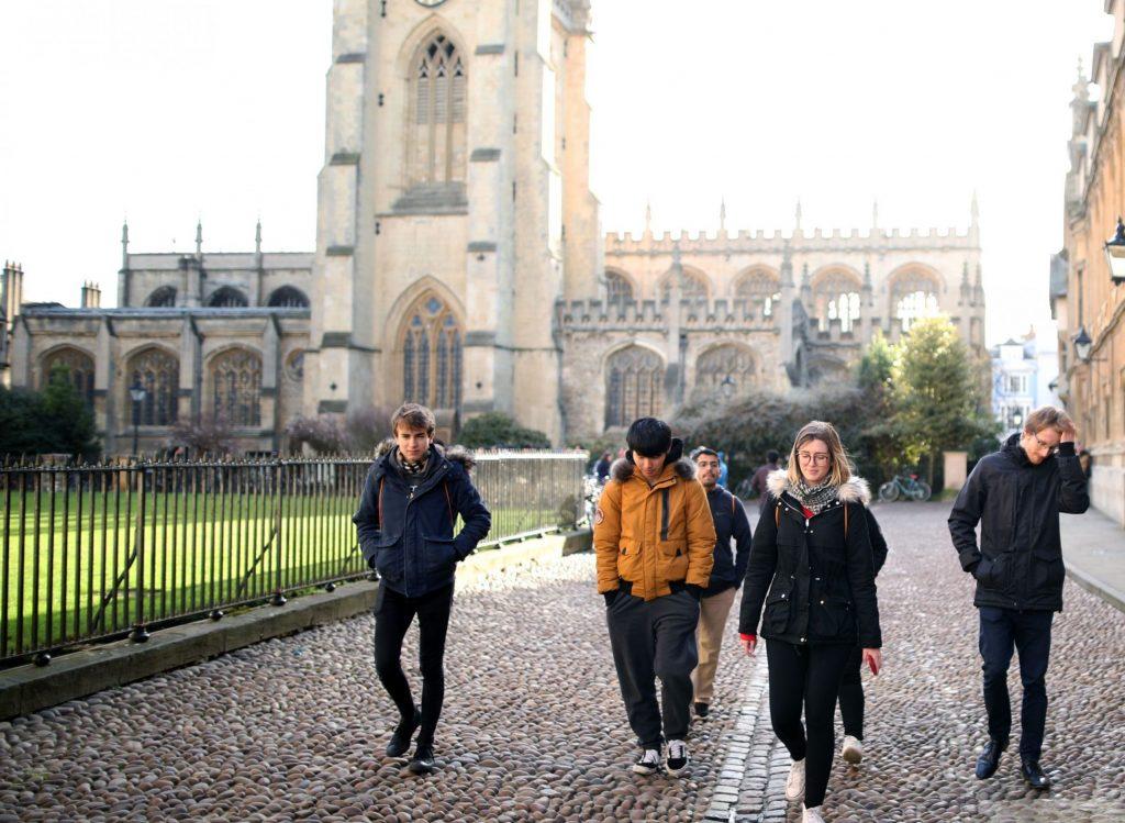 Students exploring Oxford
