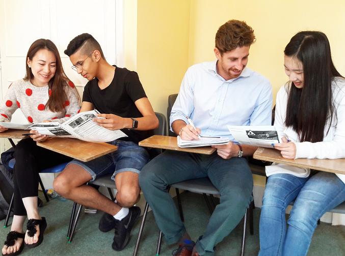 Senior students in summer classroom