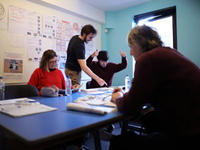 Students enjoying their class