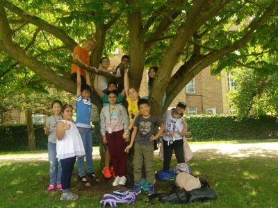 Junior group in the park