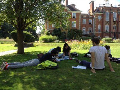Summer Senior students in the gardens